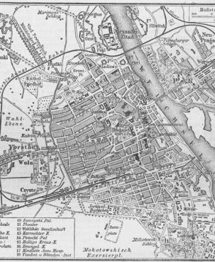 Karte Warschau 1888